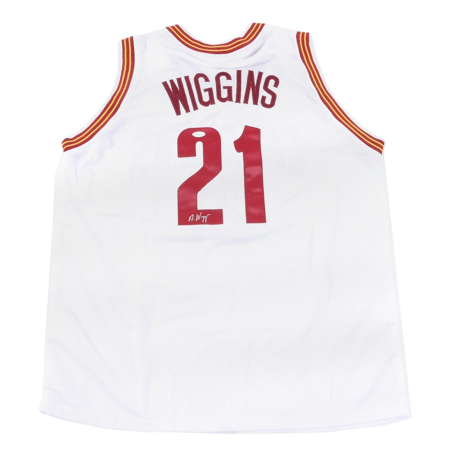 best service ee3a3 ccc6b Andrew Wiggins Signed Cleveland Cavaliers Jersey