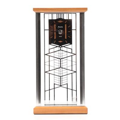 Frank Lloyd Wright Foundation Bulova Mantel Clock, Contemporary