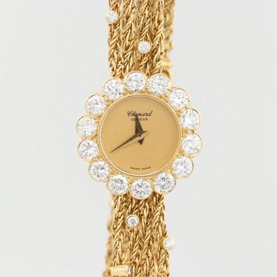 Vintage Chopard 18K Yellow Gold and 3.00 CTW Diamond Quartz Wristwatch