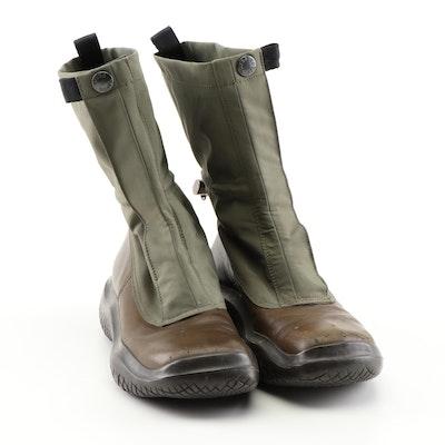 Prada Technical Square Toe Vibram Boots