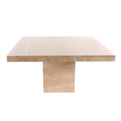 Contemporary Travertine Dining Table