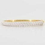 14K Yellow Gold 2.76 CTW Diamond Bangle Bracelet