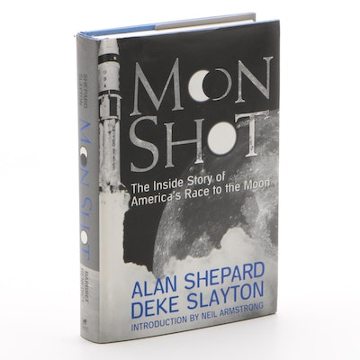 "Signed First Edition ""Moon Shot"" by Alan Shepard and Deke Slayton, 1994"