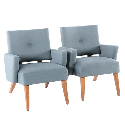 Mid Century Modern Style Upholstered Armchairs