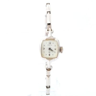 Hamilton 10K White Gold Plated Watch, Vintage