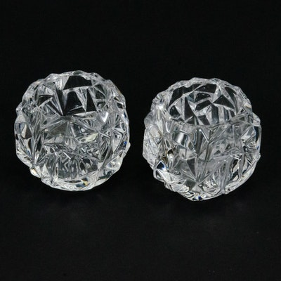 "Tiffany & Company ""Rock Cut"" Crystal Votive Candleholders"