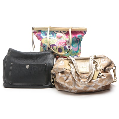 Coach Poppy Multicolor Print Tote, Chelsea Leather, and Madison Shoulder Bags