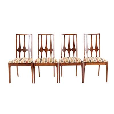 Broyhill Brasilia Walnut Side Chairs, Set of Four, Mid-20th Century
