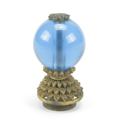 Chinese Official's Third Rank Hat Finial, Qing Dynasty
