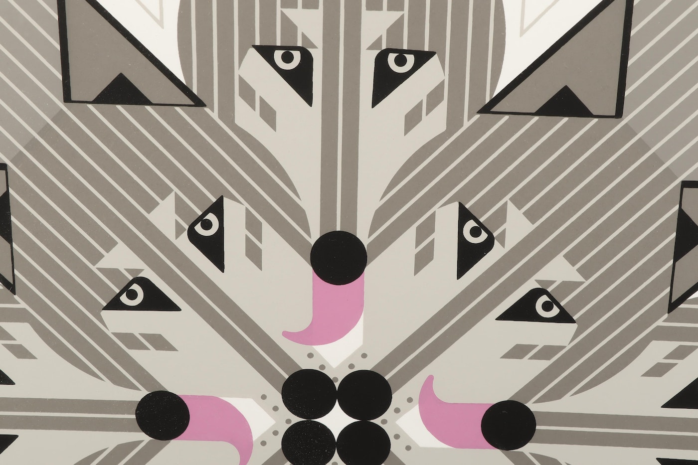 """Charley Harper Serigraph """"Pack Pact"""""""