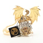 "Franklin Mint ""Golden Eye Of The Dragon"" Pocket Watch with Decorative Dagger"