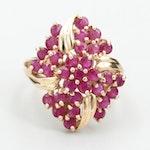 Circa 1950s Sanuk 14K Yellow Gold Ruby Ring