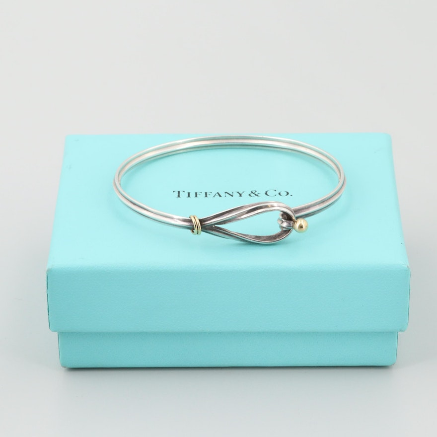 e048fdcc8 Tiffany & Co. Sterling Silver and 18K Yellow Gold Hook and Eye Loop Bracelet  | EBTH