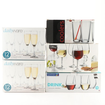 Grouping of Stemware and Drink-ware Featuring Libbey and Dailyware
