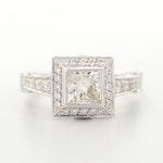 18K White Gold 2.42 CTW Diamond Ring