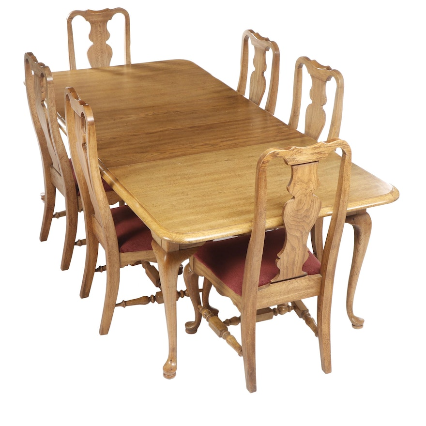 Incredible Georgia Pacific Williams Queen Anne Style Limed Oak Dining Table Chairs Download Free Architecture Designs Rallybritishbridgeorg