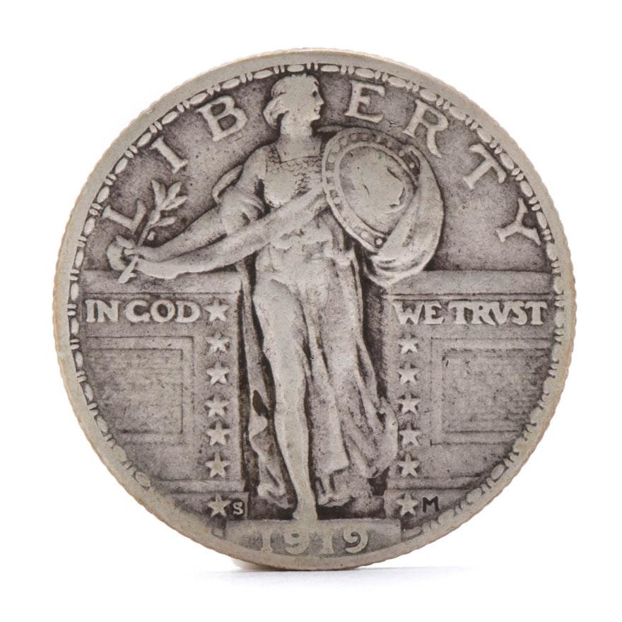 1919-S Standing Liberty Silver Quarter