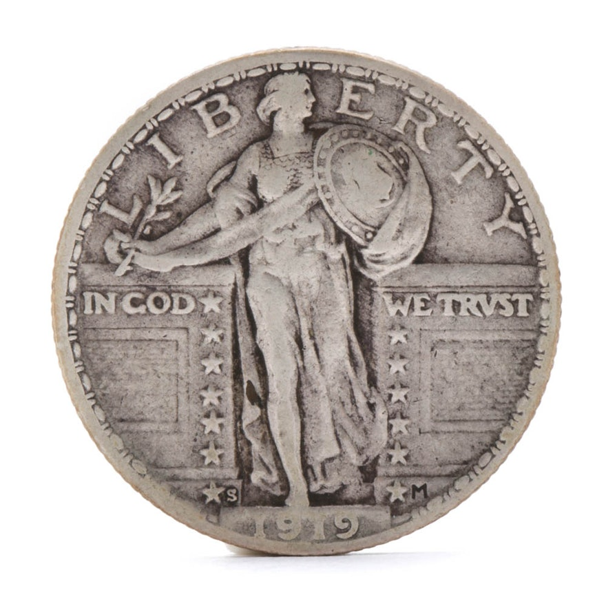 1919-S Standing Liberty Silver Quarter