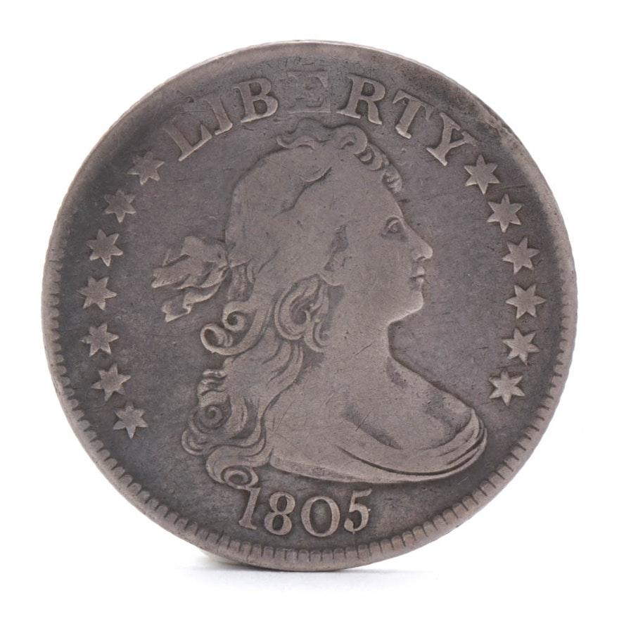 1805 Draped Bust Silver Quarter