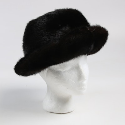 Janet Leitner New York Mink Fur Bucket Hat, 1960s, Vintage