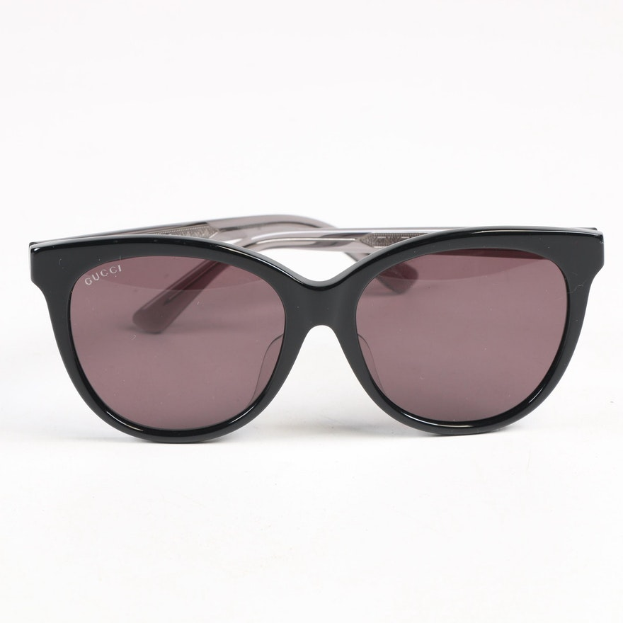 Gucci GG 0081 Modified Cat Eye Sunglasses