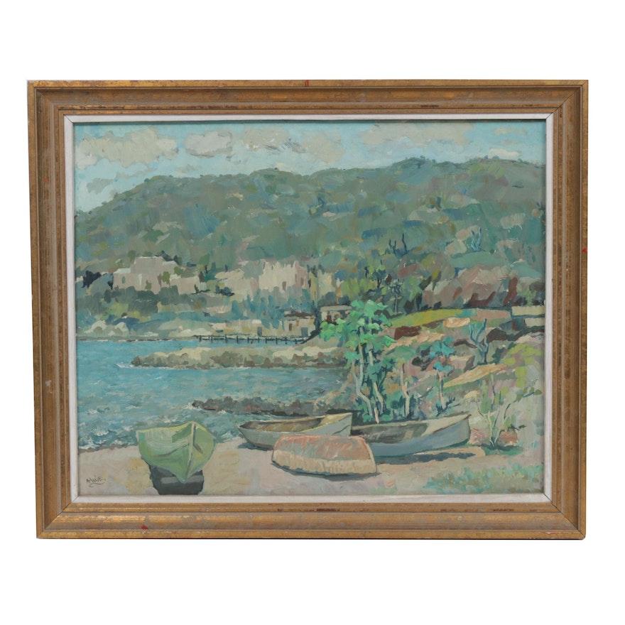 Albert Huie Landscape Oil Painting