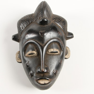Wooden Baule Family Passport Style Mask