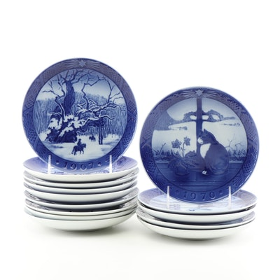 Christmas Porcelain Plates Featuring Royal Copenhagen and Bing & Grondahl