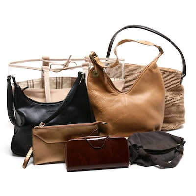 Yaluxe Leather Zipper Wallets with The Sak and Other Totes and Shoulder Bags