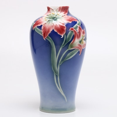 Franz Porcelain Lily Vase After May Wei Xuet-Mei