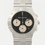 Bulgari Diagono Chronograph Stainless Steel Quartz Wristwatch