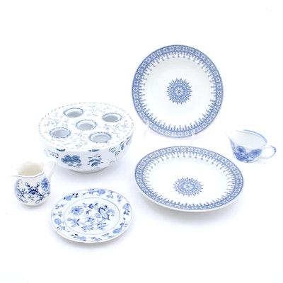 Decorative Tableware Ceramics Featuring Meissen