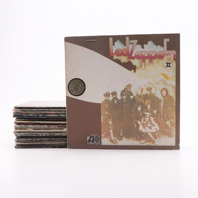 Collection of The Rolling Stones Records Including Sticky