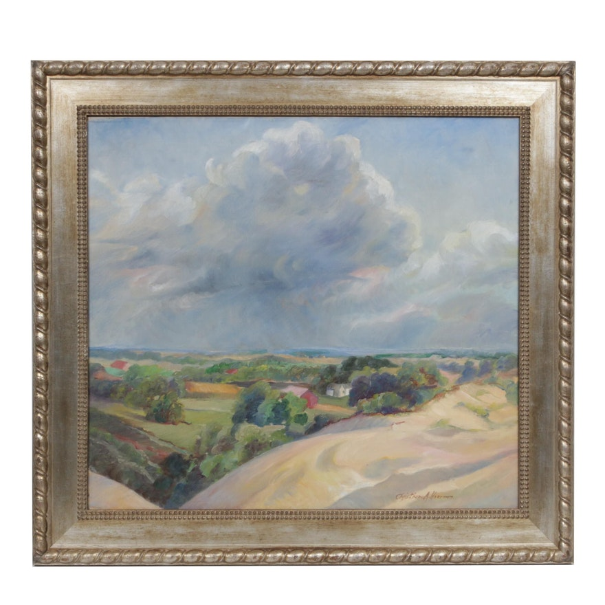 "Christiana Hoerman Oil Painting ""Saugatuck"""