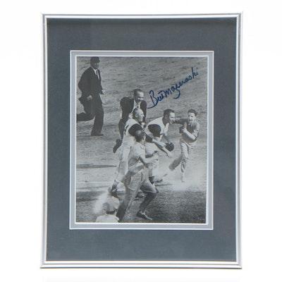 "Bill Mazeroski Signed ""Home Run"" Framed Photo Print, JSA COA"