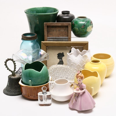 McCoy Ceramic Pottery, Josef Originals Figurine, and Other Decor