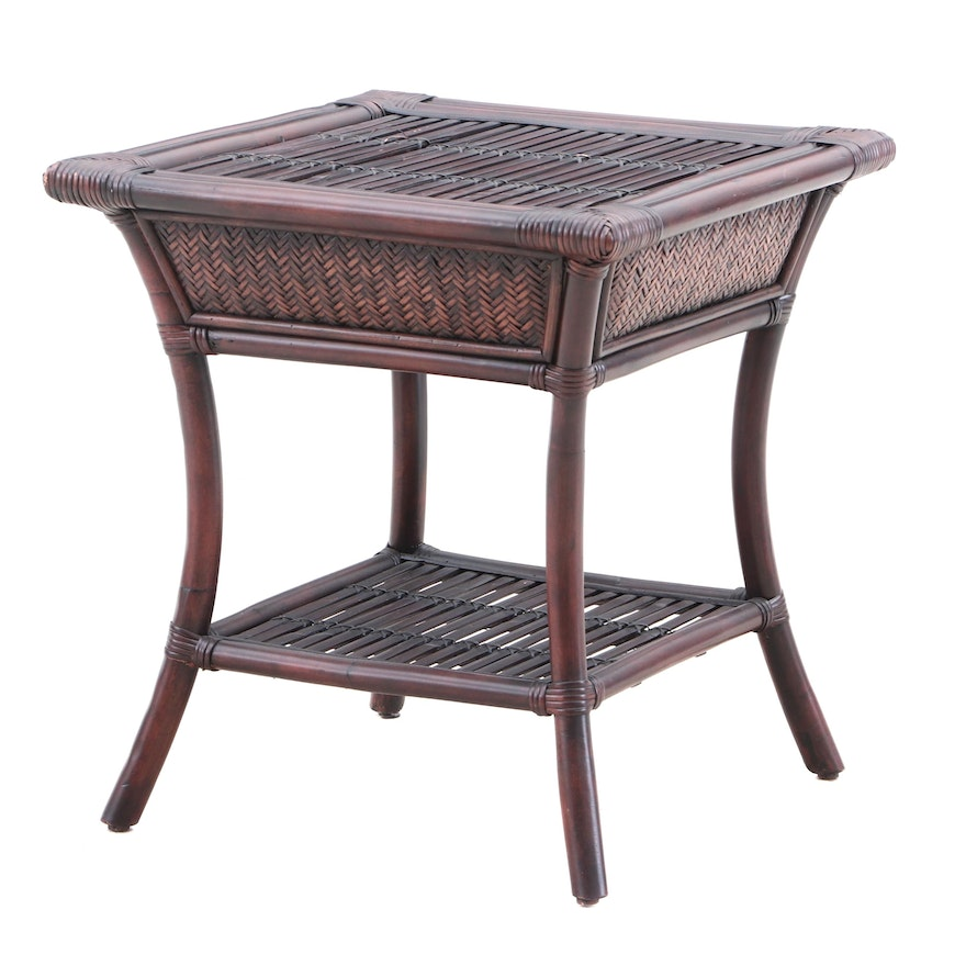 Pier One Imports Rattan Side Table Contemporary
