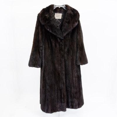 Morgenstien Hammer New York Mink Fur Coat, Vintage