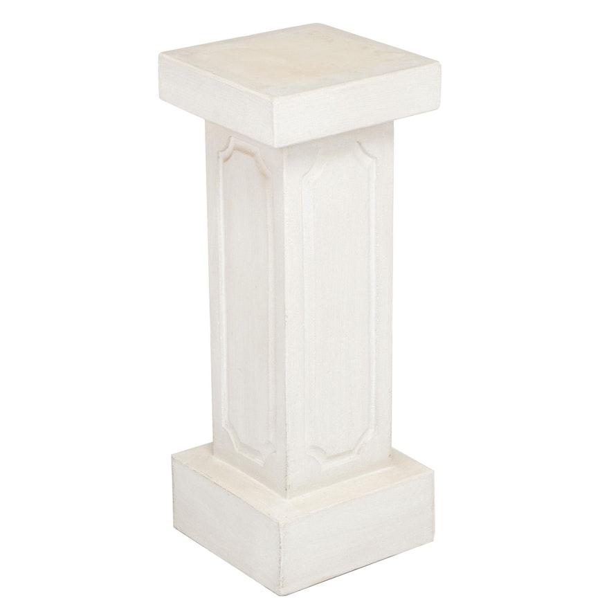 Contemporary Off-White Plaster Pedestal