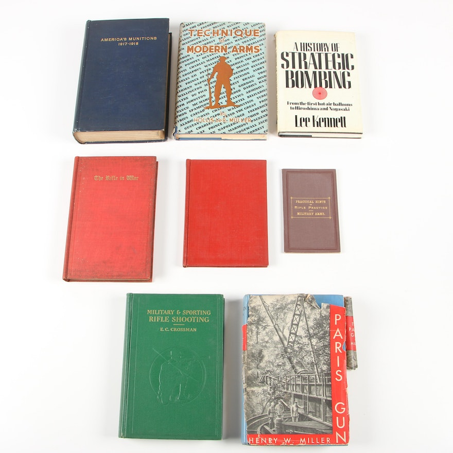 """Military Books including 1982 """"A History of Strategic Bombing"""" by Lee Kennett"""