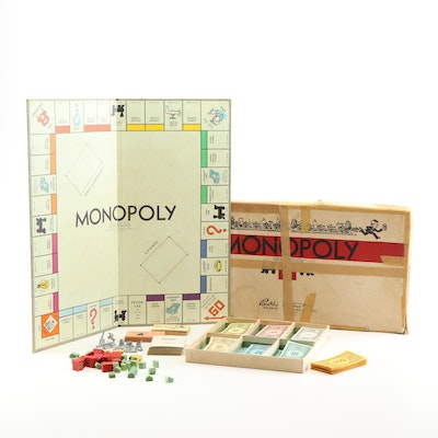 Vintage Parker Brothers Monopoly Board Game