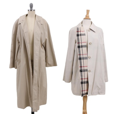 Burberrys and Pendleton Signature Plaid Trench Coats