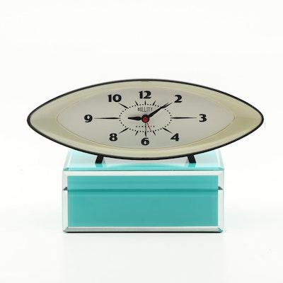 "American Atelier Glass Decorative Box and Newgate ""Bullitt"" Alarm Clock"