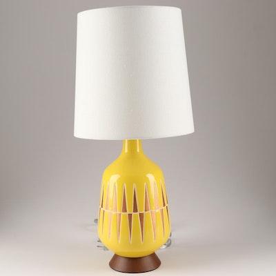 West Elm Mid Century Modern Style Ceramic Table Lamp