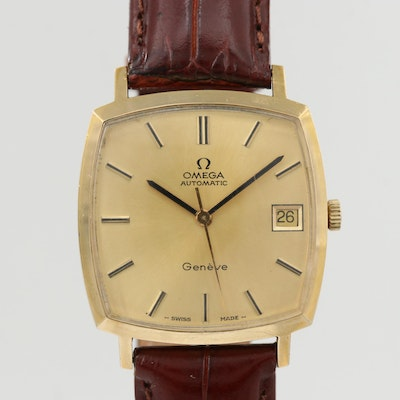Vintage Omega Genève Gold Plated Automatic Wristwatch, 1973