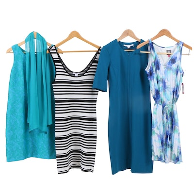 Diane von Furstenberg, Vince Camuto, and Other Sleeveless and Sheath Dresses