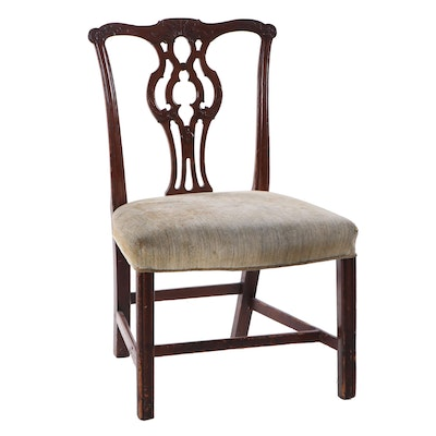 Pennsylvania or New Jersey Chippendale Mahogany Side Chair, Circa 1795