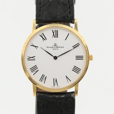 Baume & Mercier Classima 14K Yellow Gold Quartz Wristwatch