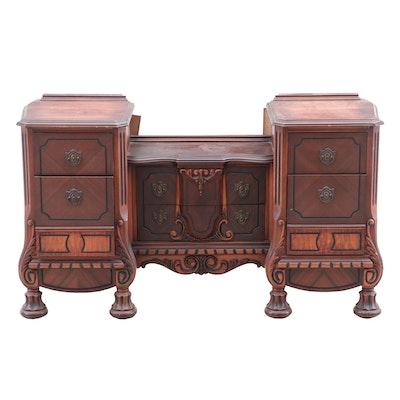 Renaissance Revival Style Walnut Vanity, Late 19th Century