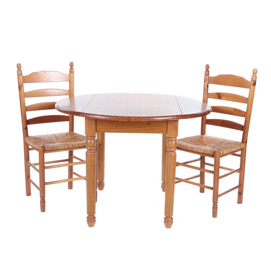 Contemporary Pine Dining Furniture Set
